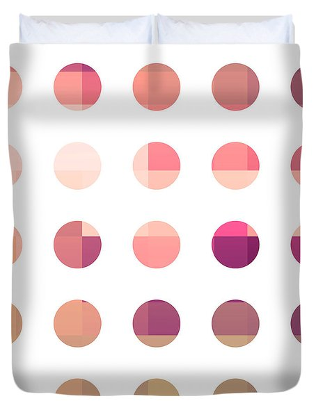 Rainbow Dots Rose Duvet Cover by Pixel Chimp