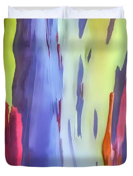 Rainbow Eucalyptus 2 Duvet Cover by Dawn Eshelman