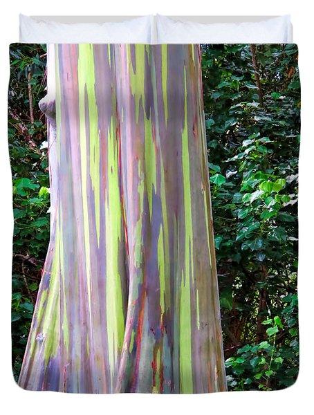Rainbow Eucalyptus 3 Duvet Cover by Dawn Eshelman
