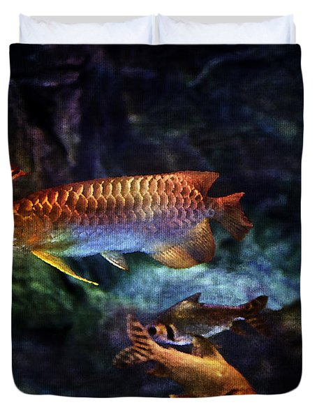 Rainbow Exotic Fish Duvet Cover by Jani Bryson