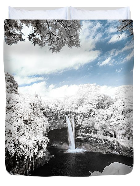 Rainbow Falls In Infrared 4 Duvet Cover
