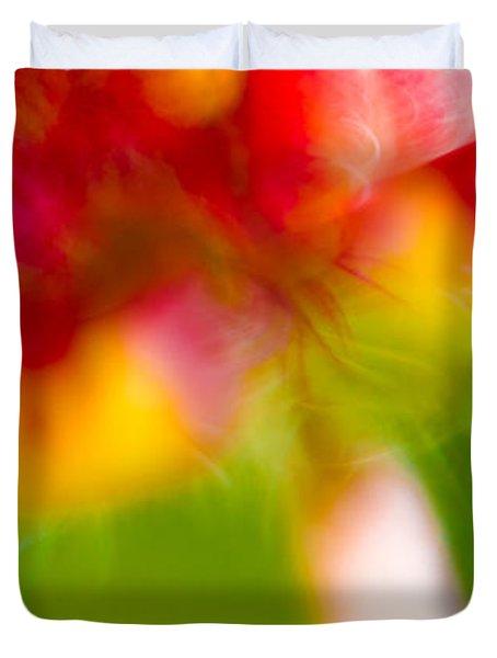Rainbow Flower Duvet Cover