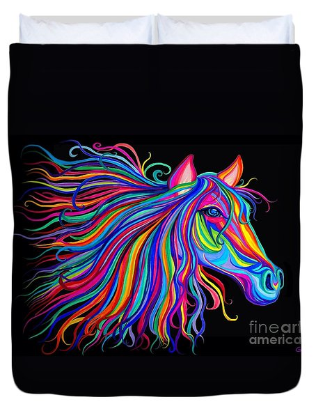 Rainbow Horse Too Duvet Cover