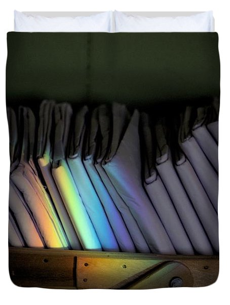 Rainbow In A Basket Duvet Cover