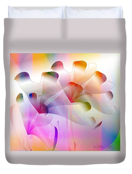Rainbow Irises Duvet Cover by Iris Gelbart