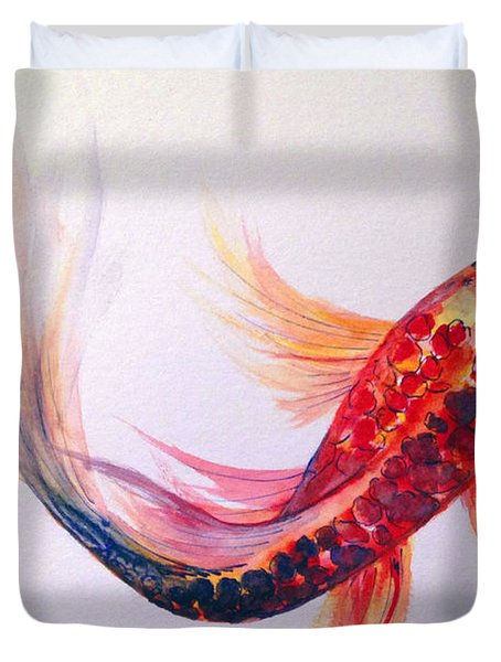 Rainbow Koi Duvet Cover