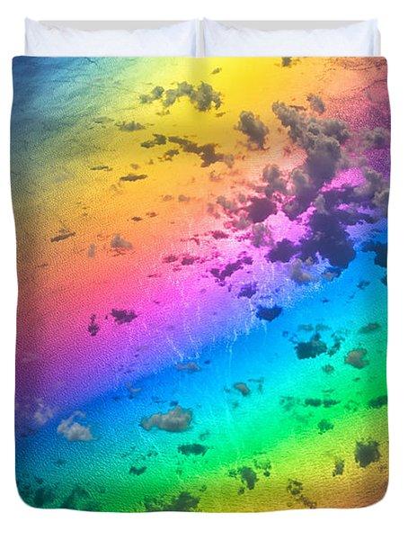 Rainbow Ocean Duvet Cover by Eti Reid