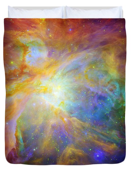 Rainbow Orion Duvet Cover by Georgia Fowler
