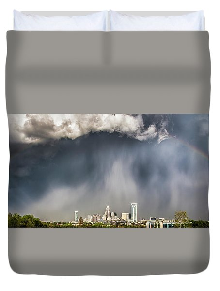 Rainbow Over Charlotte Duvet Cover