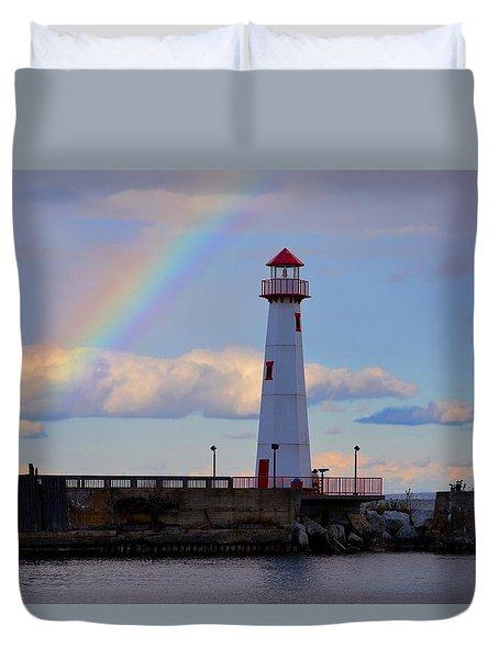 Rainbow Over Watwatam Light Duvet Cover