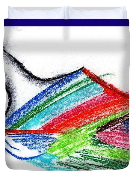Rainbow Paintbrush Duvet Cover