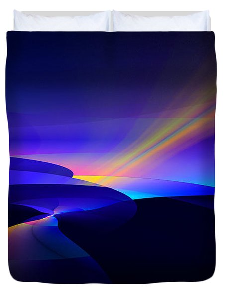 Rainbow Pathway Duvet Cover by GJ Blackman