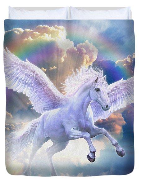 Rainbow Pegasus Duvet Cover by Jan Patrik Krasny