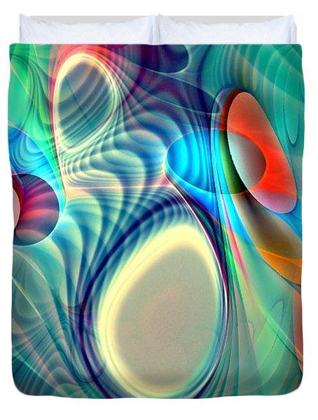 Rainbow Play Duvet Cover by Anastasiya Malakhova
