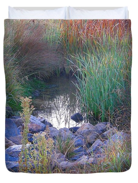 Rainbow Pond Duvet Cover