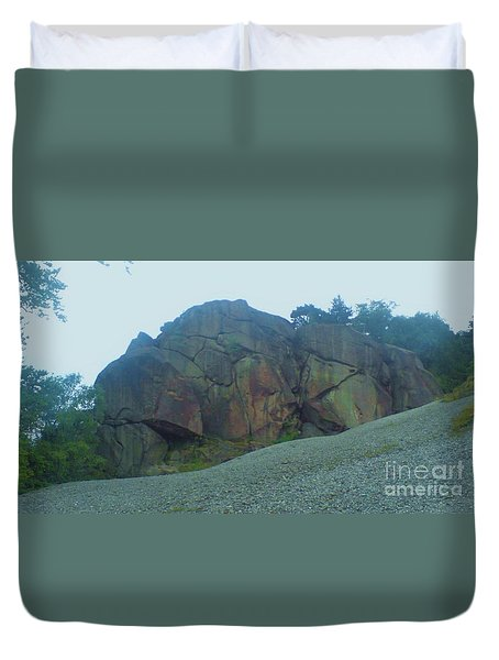 Duvet Cover featuring the photograph Rainbow Rock by John Williams
