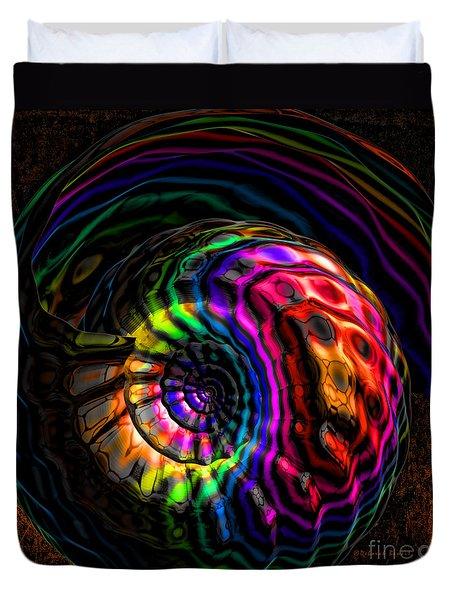 Rainbow Shell Duvet Cover by Deborah Benoit