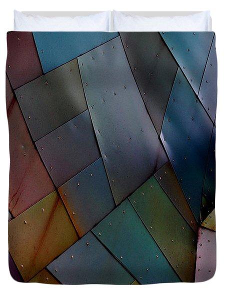 Rainbow Shingles Duvet Cover by Holly Blunkall