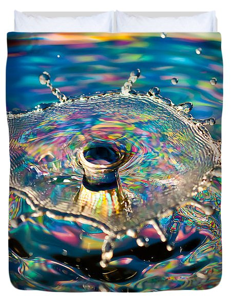 Rainbow Splash Duvet Cover
