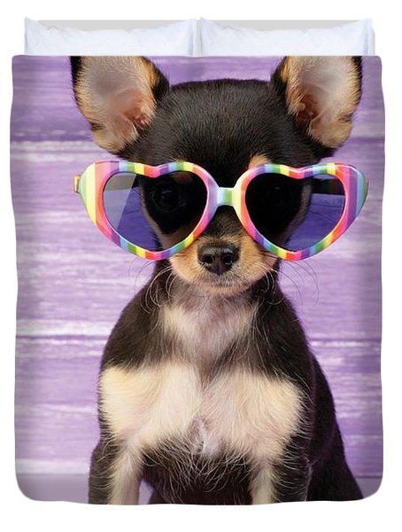 Rainbow Sunglasses Duvet Cover by Greg Cuddiford