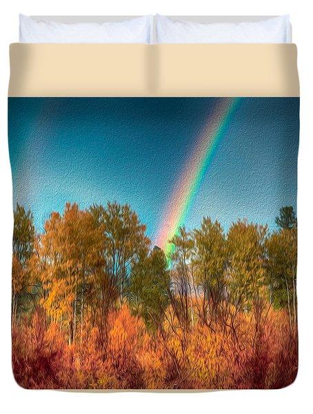 Rainbow Surprise Duvet Cover by Omaste Witkowski
