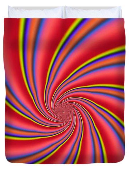 Rainbow Swirls Duvet Cover by Paul Sale Vern Hoffman