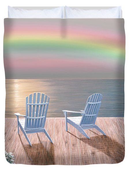Rainbow Wishes Duvet Cover