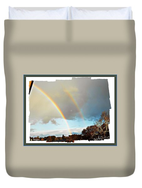 Duvet Cover featuring the photograph Rainbows by Leanne Seymour