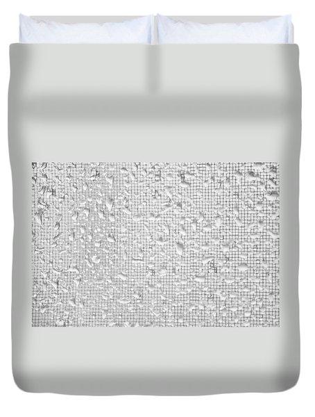 Raindrops On Window White Duvet Cover