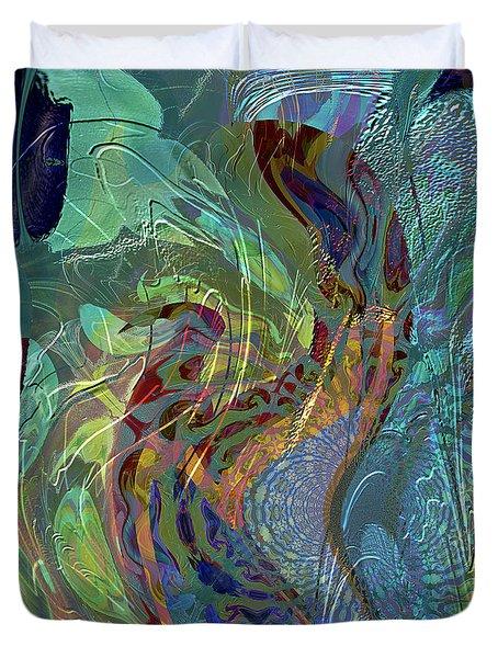 Rainforest Duvet Cover by Ursula Freer