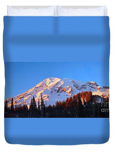 Rainier Sunset Duvet Cover