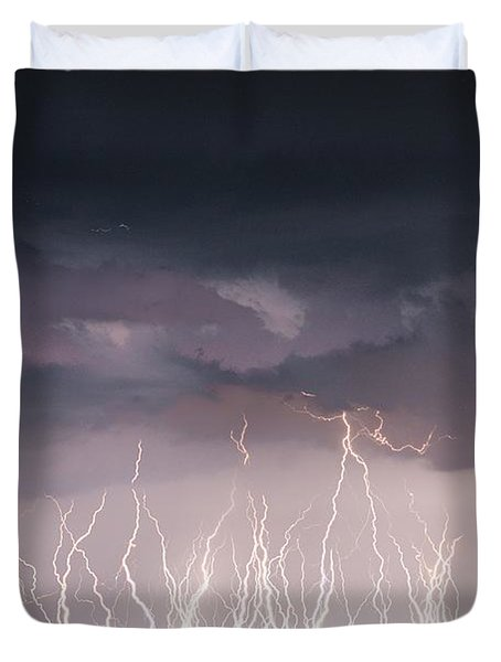 Raining Electricity Duvet Cover