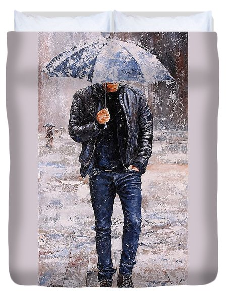 Rainy Day #23 Duvet Cover by Emerico Imre Toth