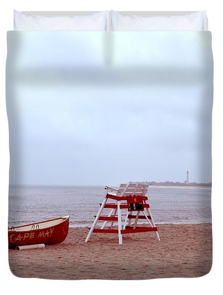 Rainy Day In Cape May Duvet Cover by Bill Cannon