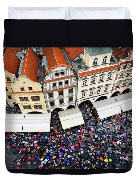 Rainy Day In Prague-1 Duvet Cover by Diane Macdonald