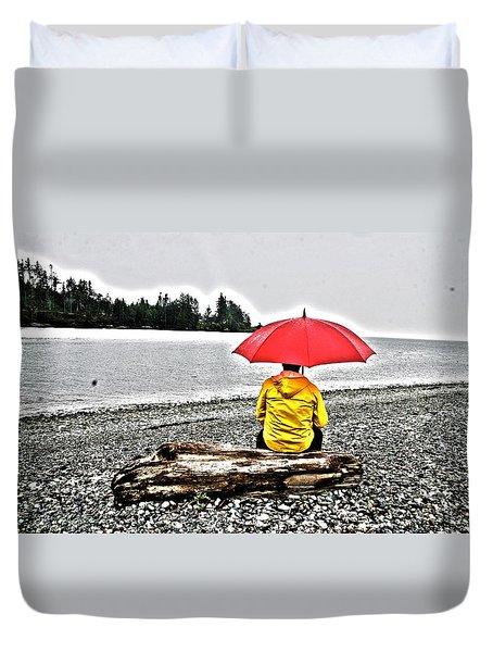 Rainy Day Meditation Duvet Cover