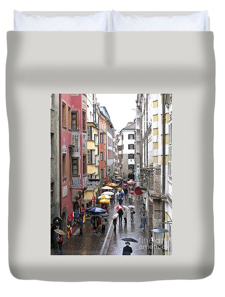 Rainy Day Shopping Duvet Cover