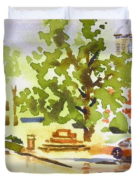 Rainy Days Duvet Cover by Kip DeVore