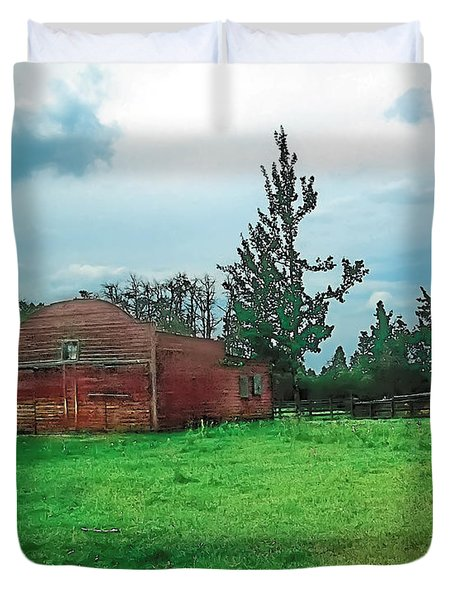 Rainy Pasture Duvet Cover by Terry Reynoldson