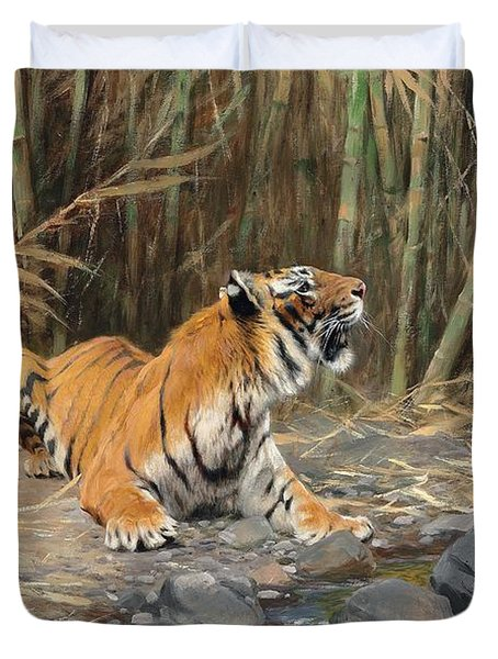 Raising His Voice Duvet Cover by Wilhelm Kuhnert