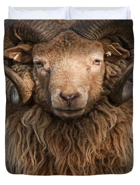 Ram Portrait Duvet Cover