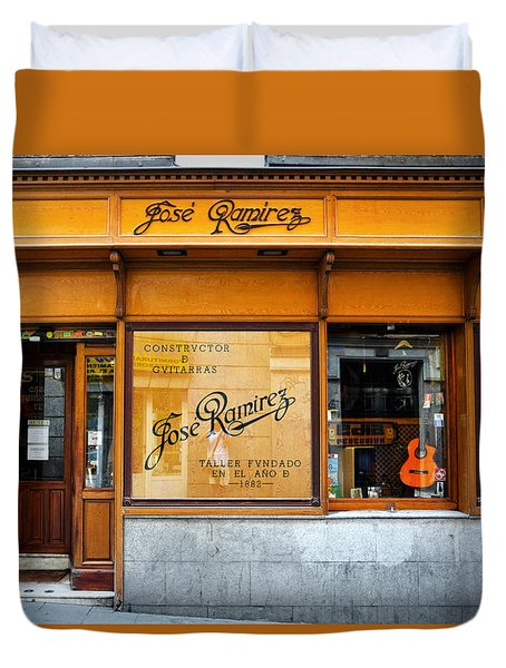 Ramirez Guitars Workshop Duvet Cover