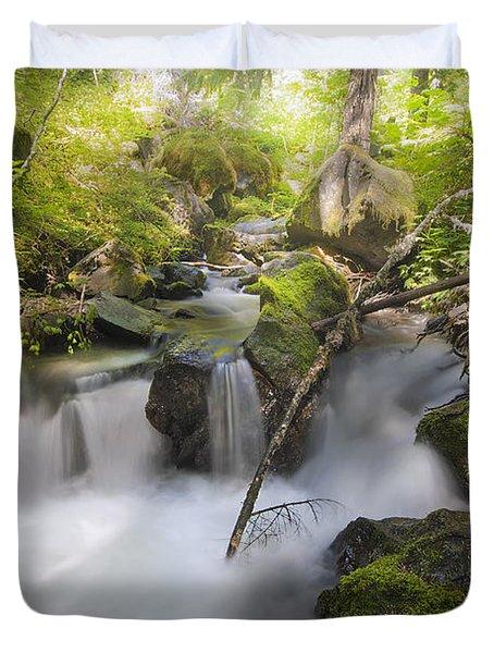 Ramona Creek Duvet Cover by David Gn