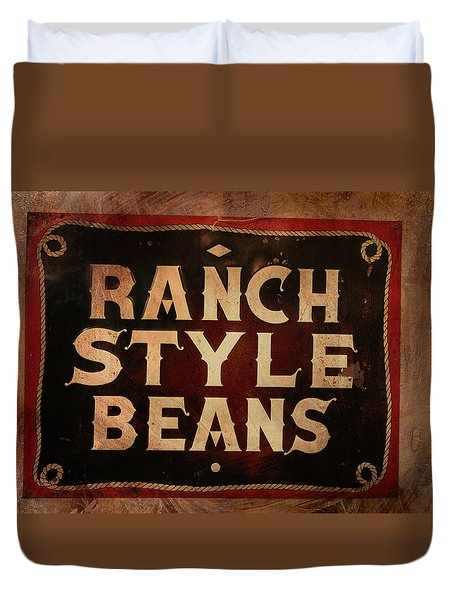 Ranch Style Beans Duvet Cover