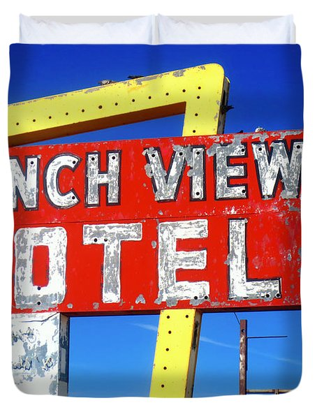 Ranch View Motel Duvet Cover