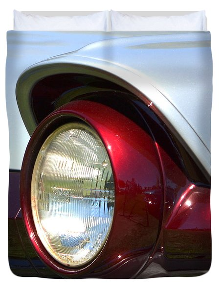 Ranch Wagon Headlight Duvet Cover by Dean Ferreira
