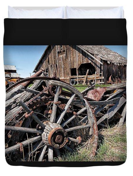 Ranch Wagon Duvet Cover