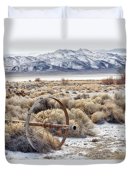 Ranching The Black Rock Duvet Cover