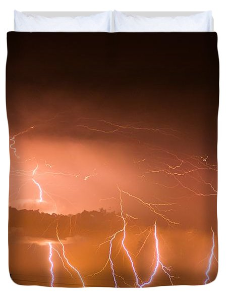 Randall Lightning Duvet Cover