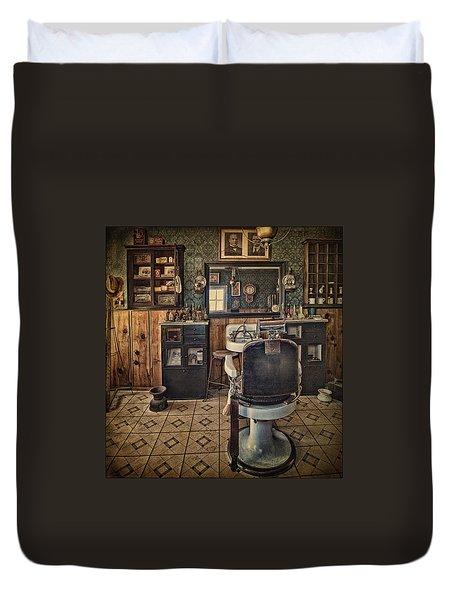 Randsburg Barber Shop Interior Duvet Cover